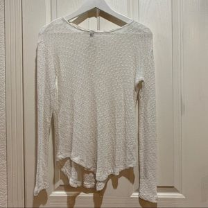 Anthropologie Left of Center Gauze Sweater White